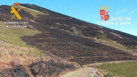 Un ganadero y su hijo menor, investigados como posibles autores de un incendio forestal en el Valle de Mena