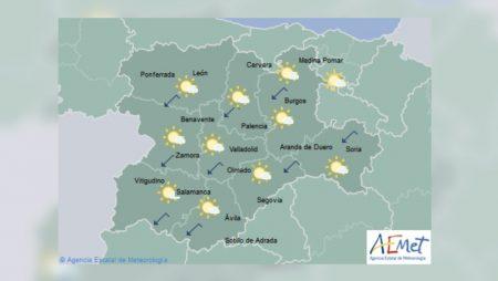 Menos precipitaciones, algunas heladas y viento del nordeste en Castilla y León hasta el fin de semana